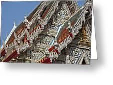 Wat Suan Phlu Ubosot Angel Gable Finials Dthb227 Greeting Card