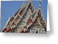 Wat Suan Phlu Ubosot Gable Dthb1132 Greeting Card
