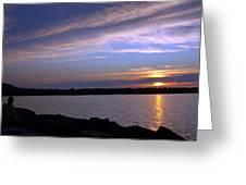 Watchin The Sun Set Greeting Card