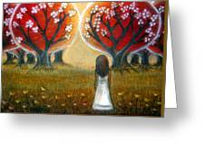 Watching The Trees Greeting Card