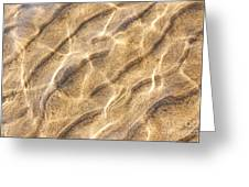 Water And Sand Ripples Greeting Card