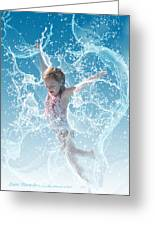 Water Baby Greeting Card by Suni Roveto