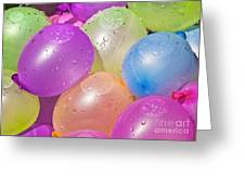 Water Balloons Greeting Card by Patrick M Lynch