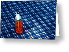 Water Bottle On A Blanket Greeting Card