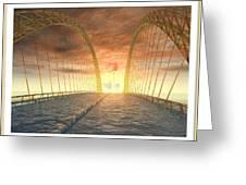 Water Bridge Greeting Card