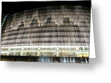 Water Cascade Over Building Greeting Card