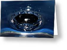 Water Crown Greeting Card