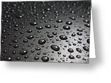 Water Drops On Black Metalica. Business Card. Invitation. Sympathy Note. Greeting Card