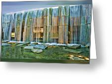 Water Fall Building Greeting Card