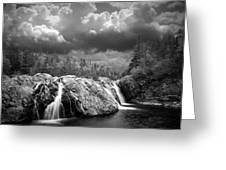 Water Falls At The Aquasabon River Mouth Greeting Card