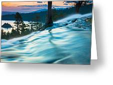 Water Flow Above Emerald Bay Greeting Card