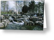 Water Flowing In A Garden, St. Fiachras Greeting Card