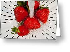 Water For Strawberries Greeting Card