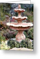 Water Fountain In  The Forest Greeting Card