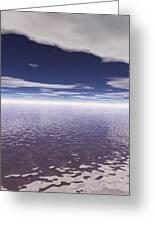 Water Horizon Greeting Card
