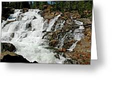Water In Motion Glen Alpine Falls Greeting Card