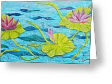 Water Lilies Panorama Greeting Card