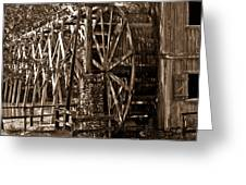 Water Mill In Action Greeting Card by Douglas Barnett
