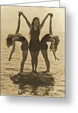 Water Nymphs Greeting Card