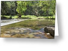 Water Over The Bridge Greeting Card