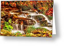 Water Over The Rocks Greeting Card