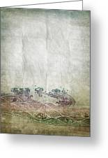 Water Pattern On Old Paper Greeting Card by Setsiri Silapasuwanchai