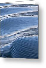 Water Patterns Of Boat Wake Greeting Card