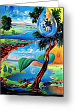Water Planet Greeting Card