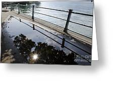 Water Puddle Greeting Card