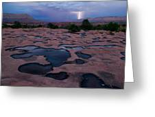 Water Puddled In The Esplanade, A Rock Greeting Card by Michael Nichols