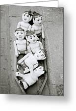 Water Puppets In Hanoi Greeting Card