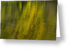 Water Reflection Abstract Autumn 1 A Greeting Card