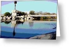 Water Reflection Greeting Card by David Alvarez