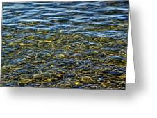 Water Ripples And Reflections On Lake Huron Greeting Card