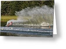 Water Skiing 4 Greeting Card