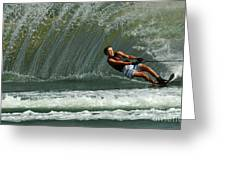 Water Skiing Magic Of Water 1 Greeting Card