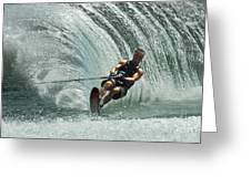 Water Skiing Magic Of Water 10 Greeting Card