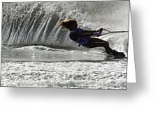 Water Skiing Magic Of Water 12 Greeting Card