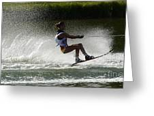 Water Skiing Magic Of Water 16 Greeting Card