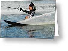 Water Skiing Magic Of Water 22 Greeting Card