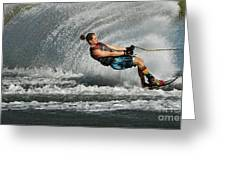 Water Skiing Magic Of Water 23 Greeting Card