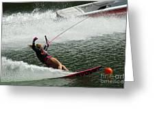 Water Skiing Magic Of Water 28 Greeting Card