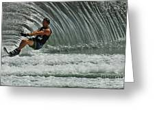 Water Skiing Magic Of Water 3 Greeting Card by Bob Christopher