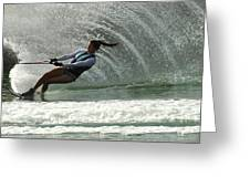 Water Skiing Magic Of Water 32 Greeting Card