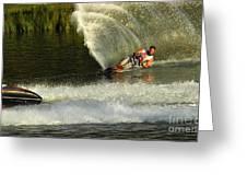 Water Skiing Magic Of Water 33 Greeting Card
