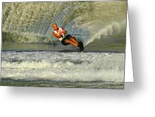 Water Skiing Magic Of Water 4 Greeting Card by Bob Christopher