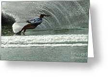Water Skiing Magic Of Water 9 Greeting Card