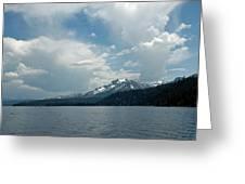 Water Snow Vapor Lake Tahoe Greeting Card