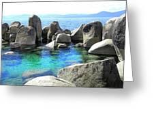 Water Stonehenge Lake Tahoe Greeting Card