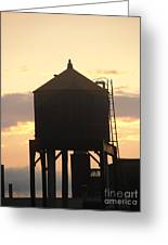 Water Tower At Sunset Greeting Card